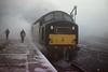 The Fog! (Kingfisher 24) Tags: fog scotland platform oldschool driver watercrane perthstation halina35x class40 englishelectrictype4