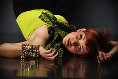 Anna.. (akal_flickr) Tags: red reflection hair studio short femaleportrait