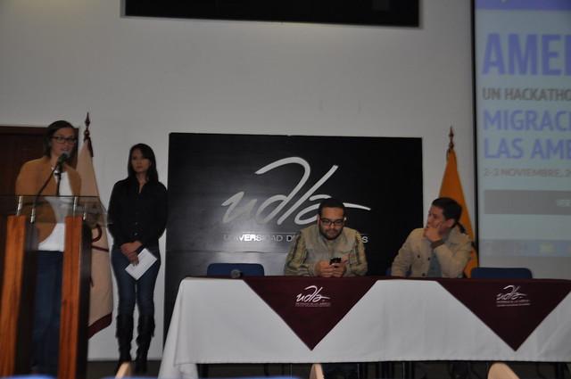 Sonia Aguilar, Jorge Imbaquingo y José Velásquez.