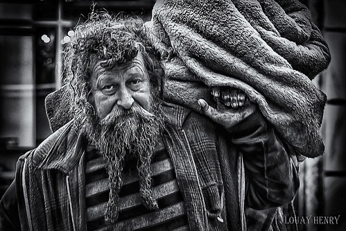 Street Portrait - Homeless on The Go.