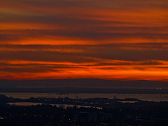 Portsdown Hill - Red Sky Sunset (fstop186) Tags: old sunset red sea seascape weather landscape glow folklore panasonic isleofwight portsmouth wives g3 tale dmc goldenhour fareham redskyatnight gosport mft portsdownhill shepherdsdelight microfourthirds micro43rds solemt