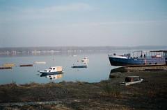 - Novi Beograd (slo:motion) Tags: abandoned boat serbia belgrade yu beograd danube donau srbija contaxt2    december2013