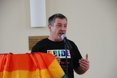 "A stressed Mark at Plymouth Winter Pride 2014 • <a style=""font-size:0.8em;"" href=""https://www.flickr.com/photos/66700933@N06/12425625415/"" target=""_blank"">View on Flickr</a>"