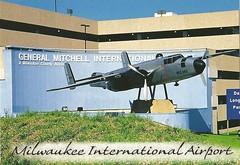General Mitchell International Airport (mrsris) Tags: airport postcard milwaukee b25 generalmitchellinternationalairport