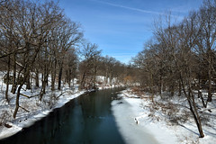 Bronx River Triptych (Eddie C3) Tags: newyorkcity winter snow nature rivers newyorkbotanicalgarden natureinthecity bronxriver