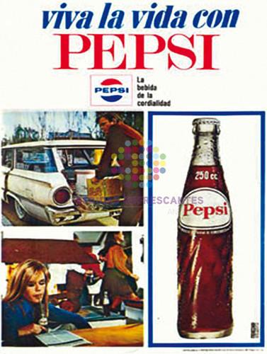 """Pepsi. """"Viva la vida con Pepsi"""". Años 70"""