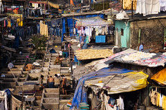 Dhobi Ghat (pantha29) Tags: india colours olympus line clothes fabric laundry bombay trousers mumbai zuiko washing shacks washingline dhobighat xz1