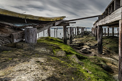 The End Of The Pier? (Eric Dugan) Tags: california abandoned broken birds pier worn rodeo lowtide sanpablobay ericduganphotography vision:mountain=0595 vision:outdoor=075 vision:sky=061