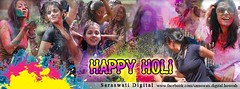 Happy Holi (saraswatidigital) Tags: india festival photomanipulation photoshop graphicdesign model god digitalart advertisement greetings flex hinduism holi sexygirls springfestival dol ecard greetingscard invitationcard bengaligirl holigreetings facebookcoverphoto saraswatidigital