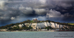Dover Castle and White Cliffs of Dover panorama (Paul @ Doverpast.co.uk) Tags: uk sea panorama castle weather clouds coast kent seaside panoramic coastal dover