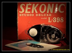 SEKONIC STUDIO DELUXE MODEL L-398. 1. 1 (adriangeephotography) Tags: camera old light classic leather vintage photography exposure box antique collection chrome calculator adrian meter gee brass collectable micronikkor55mmf28 fujis5pro adriangeephotography