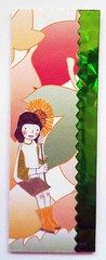 MOO43 (tengds) Tags: red orange flower green girl card sunflower papercraft handmadecard moocard tengds