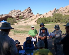 001 At The Vasquez Rocks O-Meet (saschmitz_earthlink_net) Tags: california training rocks orienteering rockformation aguadulce vasquezrocks losangelescounty 2015 laoc losangelesorienteeringclub garydolgin