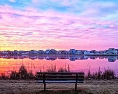 Bench Warmer (DASEye) Tags: lake clouds sunrise bench dawn nikon cloudy davidadamson daseye