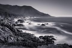 Soberanes Point Duotone (byron bauer) Tags: ocean longexposure beach water monochrome blackwhite surf pacific rocky timeexposure coastline duotone byronbauer