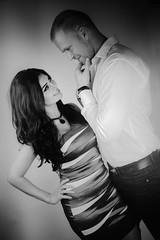 Marlin&Mark (Pulverulence Photography - Azita Dahlia) Tags: fashion canon studio engagement couples expressive weddings emotive pulverulence flashlamps arminehkamalirousta