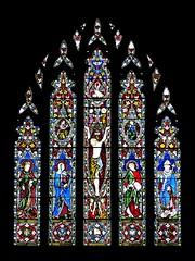 Lewknor, Oxfordshire (Oxfordshire Churches) Tags: uk england unitedkingdom churches stainedglass panasonic oxfordshire anglican cofe churchofengland mft lewknor christoncross micro43 microfourthirds johnhardmanco lumixgh3 johnward