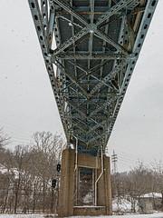 Homestead-Duquesne bridge (kwtracyghostship) Tags: bridge blue rusted homestead duquesne kwtracyghostship