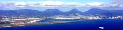 #8776 approaching Honolulu International Airport (Nemo's great uncle) Tags: plane hawaii oahu aerial ハワイ o'ahu オアフ島 hi honolulu ha boeing ホノルル hnl windowseat koa 飛行機 hawaiianairlines b717 reefrunway ha257 ハワイ航空
