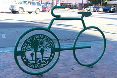 Bike Rack (So Cal Metro) Tags: bike bicycle bicycling downtown palmsprings rack bikerack