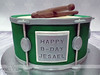 Green Drum Birthday Cake (MamaWaCakes) Tags: chicago green cakes cake sticks drum fondant gumpaste customcake