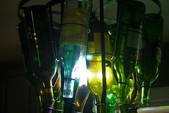 Wine Light (sofiainspace) Tags: light lamp diy shadows wine bottles craft chandelier alcohol