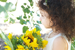 Gianna_0138 (Ciara*) Tags: girl kid toddler smiles cutie niece sunflower
