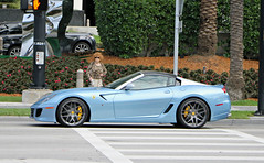 Ferrari 599 SA Aperta (RudeDude2140a) Tags: blue sports car convertible ferrari exotic sa supercar aperta 599