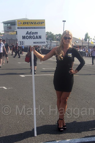 Adam Morgan's grid board during the BTCC weekend at Oulton Park, June 2016