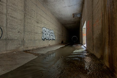 Black Hole (Archer0T8) Tags: urban storm water underground tunnel drain exploration