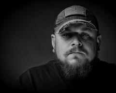 Joel (dante217) Tags: portrait bw monochrome canon studio 85mm nik strobe 5diii silverfx2