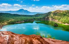 Taal Volcano (pietkagab) Tags: trip travel lake water trekking photography volcano asia colours pentax philippines hike adventure caldera taal luzon redlavarock pentaxk5ii pietkagab piotrgaborek