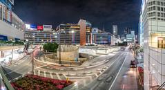 A View of Shinjuku Station (Bryan.Chihan) Tags: travel panorama bus night train landscape tokyo shinjuku cityscape sony voigtlander roads vertorama vertopano a7rii
