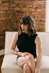 Veritas (Dan | Hacker | Photography) Tags: studio model naturallight barefoot redlips brunette bodysuit veritas fuquayvarina cutoffs vsco