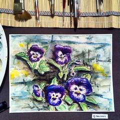 """""""Pansies"""" / """"Stiefmtterchen"""" (marusaart) Tags: flower art watercolor painting artist watercolour pansies aquarell stiefmtterchen schmincke marusaart"""
