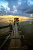 ::JETTY JELUTONG 2:: (ARULFIKRI) Tags: bridge sea urban skyline sunrise landscape jetty malaysia moment jelutong seascpae