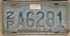 HONDURAS 1994 LICENSE PLATE (woody1778a) Tags: honduras centroamerica centralamerica licenseplate numberplate registrationplate 1994 mycollection myhobby registration hobby collection