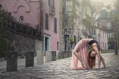 (dimitryroulland) Tags: street city light people urban paris france art pose dance nikon natural 85mm dancer montmartre flex 18 performer flexible d600 dimitry roulland