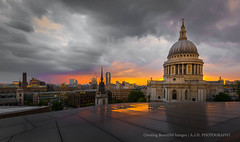From the Terrace  ( Explore 28-05-16 ) (In Search of Good Light) Tags: uk sunset england sky london church st architecture moody cathedral stpauls pauls southwark moddy historicalplaces ancientmonuments stpaulsscathedral capitala capitalofengland