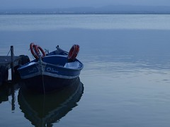 Calm and quiet blue (Chus 161) Tags: valencia azul agua barca albufera