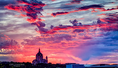 End of the First Day of Summer (Greg Lundgren Photography) Tags: sunset red summer sky church minnesota architecture clouds landscape evening cityscape cathedral magenta stpaul redsky twincities saintpaul epic cathedralofsaintpaul greglundgren onlyinmn
