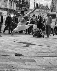 flying (Wayne Stiller) Tags: street people london dance athletic day air spin acrobat athlete performer interest tumbling acrobatic