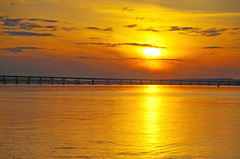 The Tay Bridges (eric robb niven) Tags: sunset ferry scotland dundee broughty ericrobbniven