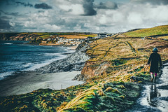 Walking Along (kerivalentine654) Tags: light sea walking coast cornwall porthleven