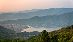 Sunrise view over Pokhara from Sarangkot, Nepal (CamelKW) Tags: nepal sunrise sarangkot 2016 everestpanorama rpokhara