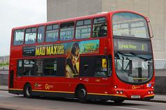 LX06 EAG, Waterloo Bridge, London, May 11th 2015 (Suburban_Jogger) Tags: bus london canon eclipse spring may wright 1855 om gemini waterloobridge 2015 greaterlondon goahead wvl245 lx06eag volvob5lh roue1