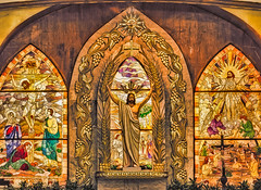 Crucifixion and Resurrection in Stain Glass (FotoGrazio) Tags: art church composition easter photography worship catholic christ cross photoshoot philippines religion jesus christian crucifix bible catholicchurch christianity moment photographicart capture stainglass crucifixion digitalphotography goodfriday resurrection crucified sandiegophotographer artofphotography flickrelite californiaphotographer internationalphotographers worldphotographer photographersinsandiego fotograzio photographersincalifornia waynegrazio waynesgrazio churchoflegaspi