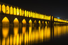 Knaju Bridge (Martin Tsvetkov) Tags: travel architecture photography lights iran perspective mosque wallpapers isfahan shah
