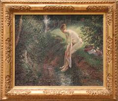 Camille Pissarro - Bather in the Woods 1895 (ahisgett) Tags: new york art museum met metropolitian