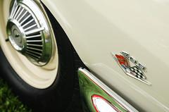 Just one important option (GmanViz) Tags: color detail chevrolet car wheel nikon automobile tire bumper fender chrome badge impala 1962 409 gmanviz d7000